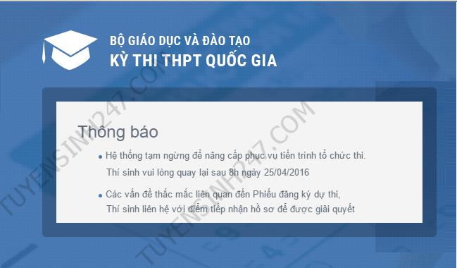 Vi sao khong truy cap trang Thisinh.thithptquocgia.edu.vn?
