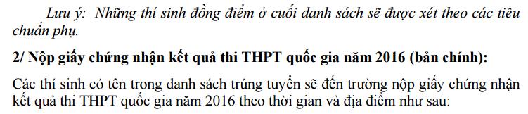 DH Y Khoa Pham Ngoc Thach cong bo diem chuan dot 1 nam 2016