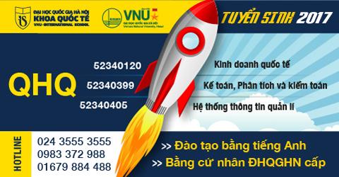 Loi the cac chuong trinh dao tao do Dai hoc Quoc gia Ha Noi cap bang tai Khoa Quoc te
