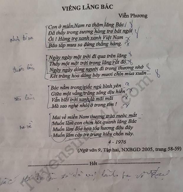 De thi vao lop 10 mon Ngu Van 2017 - An Giang