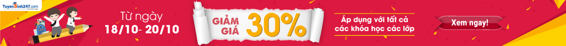 Khuyến mãi 30% cho tất cả các khóa học các lớp từ ngày 18 đến 20/10/2017