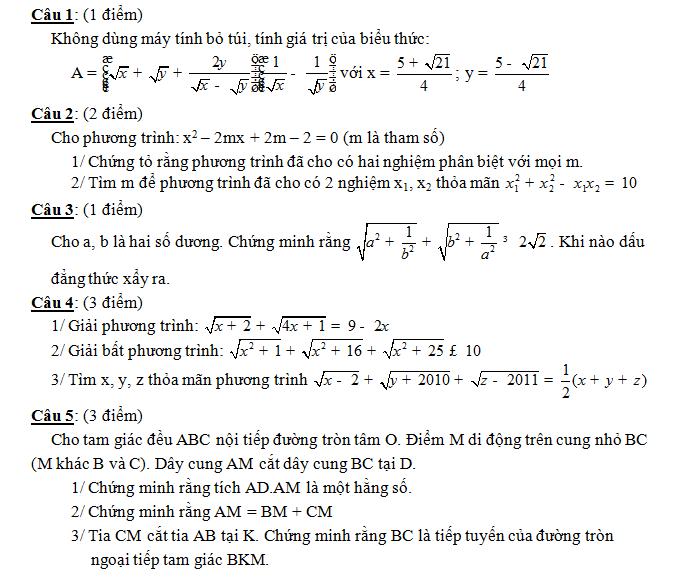 Điểm thi lớp 10 năm 2012 a084099fcfd8fcd2fcb816859acacb6c 45156434.chuyentayninh Đáp án đề thi môn toán lớp 10 chuyên TÂY NINH năm 2012