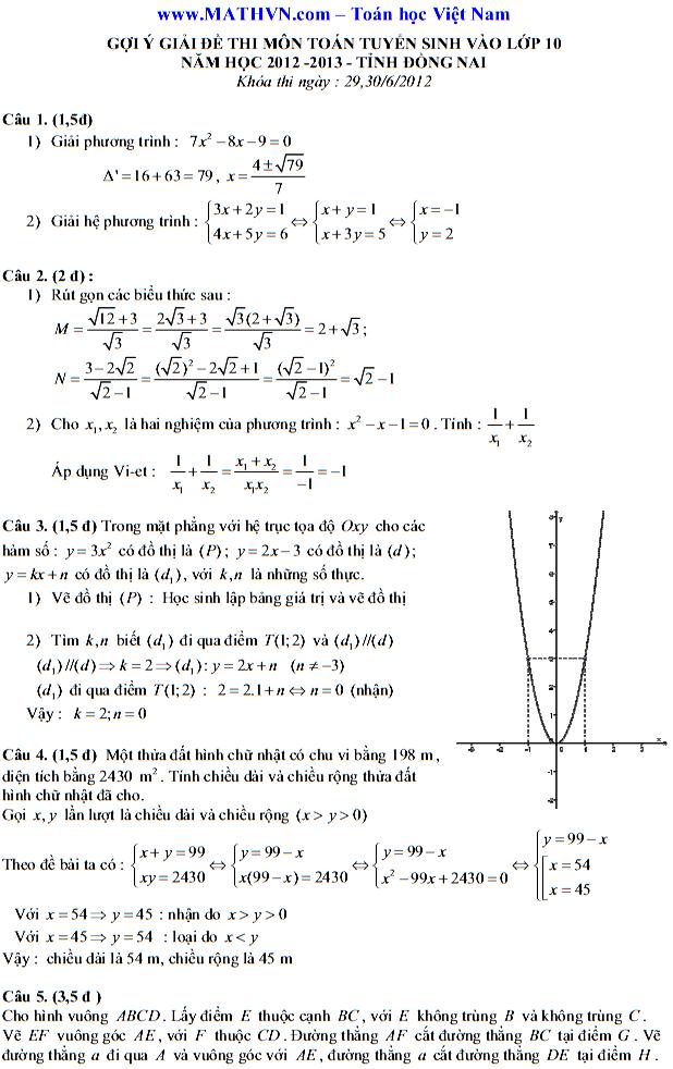 Điểm thi lớp 10 năm 2012 65090c5e7fc8b22c2b5ad35bebe80f5e 47102510.dnai1 Đáp án đề thi môn toán lớp 10 ĐỒNG NAI năm 2012