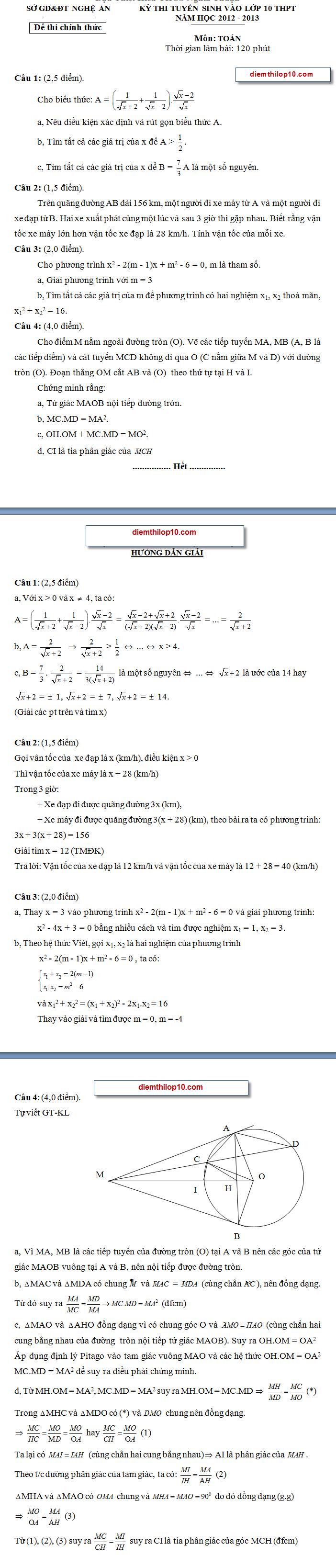 Điểm thi lớp 10 năm 2012 b1a1764bd965273980685a48667c6d7b 46550326.nghean Đáp án đề thi vào lớp 10 môn toán Nghệ An năm 2012
