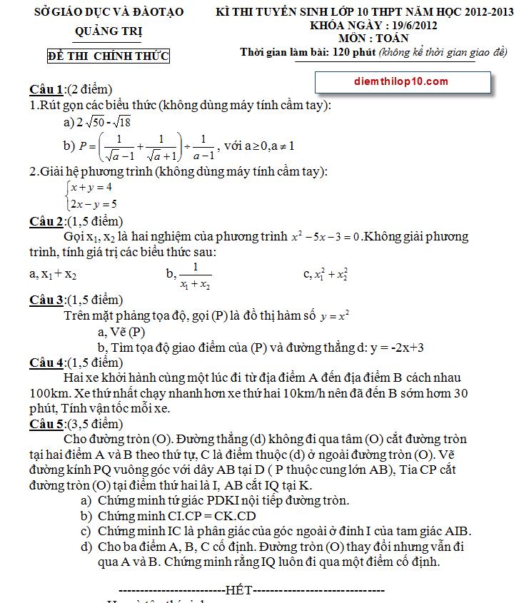 Điểm thi lớp 10 năm 2012 fa466d5217be534a12b3f81909e9d4af 46554555.quangtri Đáp án đề thi vào lớp 10 môn toán tỉnh Quảng Trị năm 2012