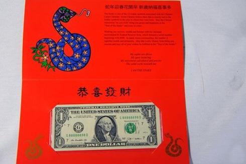 2013 Mỹ phát hành tờ 1 USD may mắn chào đón tết âm