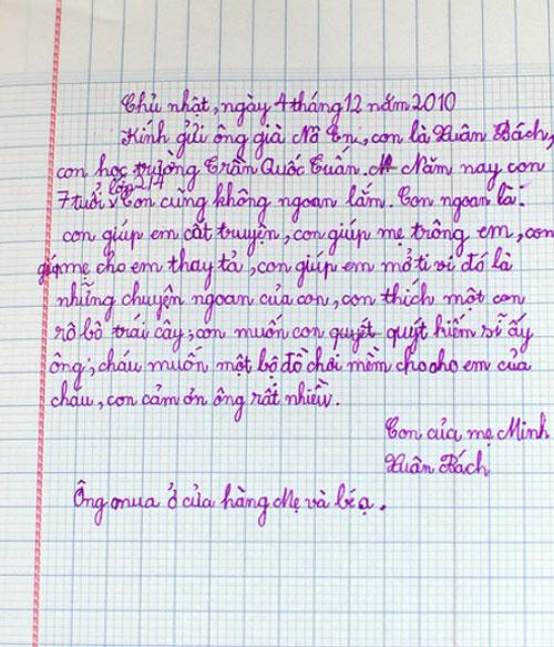Vui vui với thư gửi ông già Noel của học sinh tiểu học