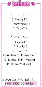 Loi chuc tet bang tieng anh hay nhat 2013