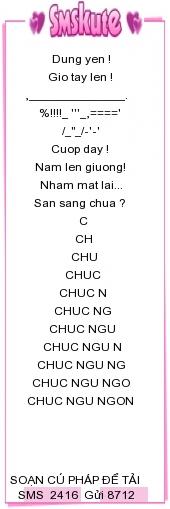 Loi chuc hay nhat 2416 Tin nhắn sms chúc ngủ ngon bằng kí tự đặc biệt dành tặng người yêu