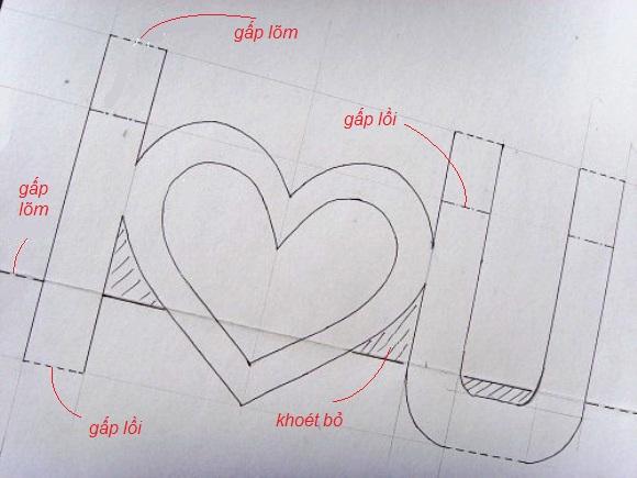 Loi chuc hay nhat thiep3 Cách làm thiệp 3D   I love you