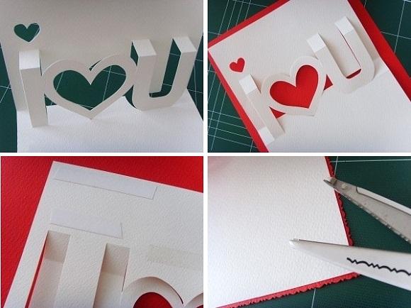 Loi chuc hay nhat thiep4 Cách làm thiệp 3D   I love you