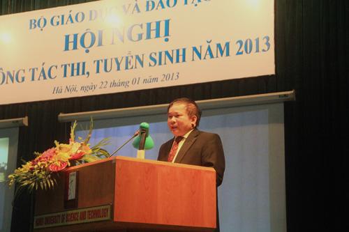 Diem san dai hoc khoi A nam 2013 khoang 12-12,5 diem