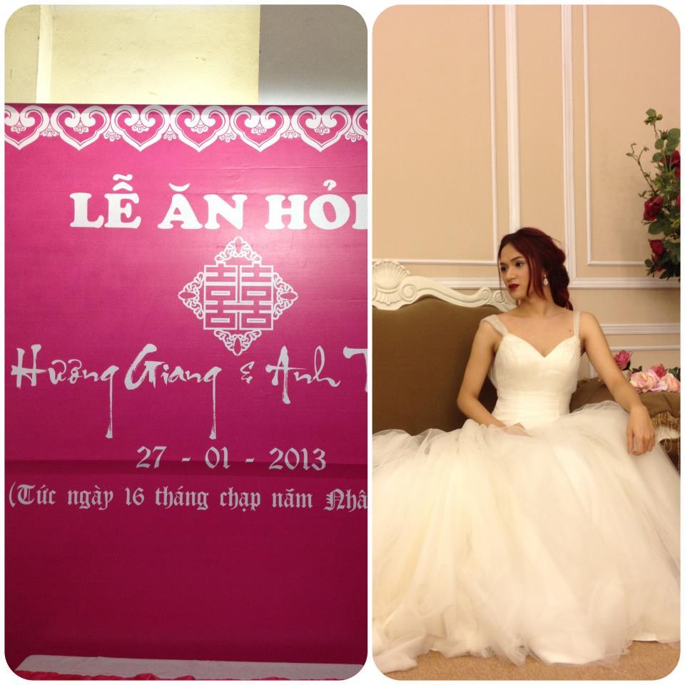 Huong Giang Idol chuan bi len xe hoa