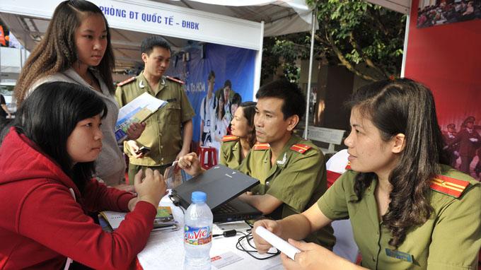 Dieu kien thi nganh cong an nam 2014