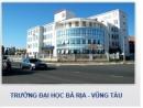 Chỉ tiêu tuyển sinh Đại học Bà Rịa - Vũng Tàu 2013