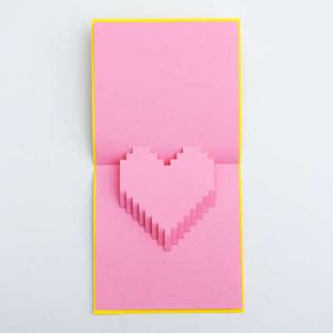 Thiep Valentine tu lam dep (handmade, popup)