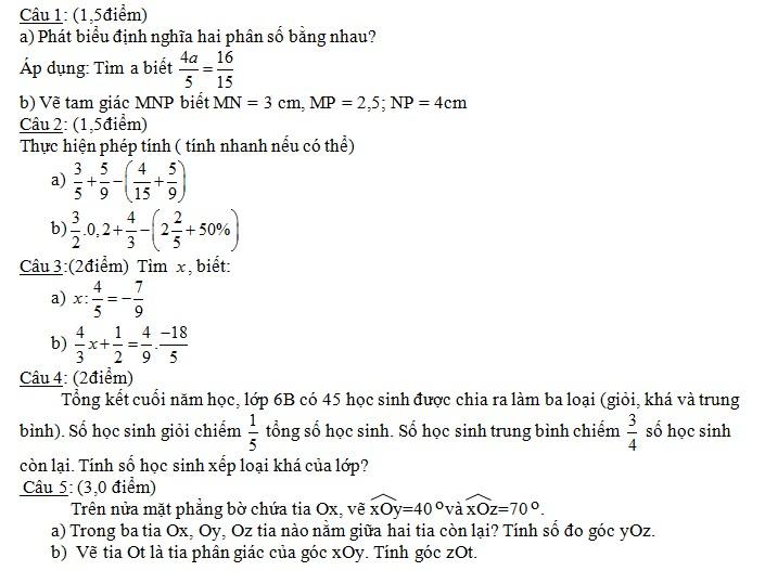 Tong hop de thi lop 6 hoc ki 2 mon toan nam 2013 (Phan 4)