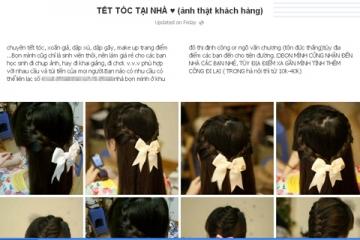 Nở rộ dịch vụ tết tóc thuê