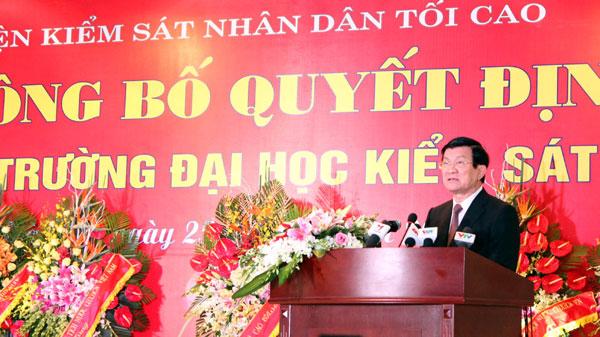 Chinh thuc thanh lap Truong Dai hoc Kiem sat Ha Noi