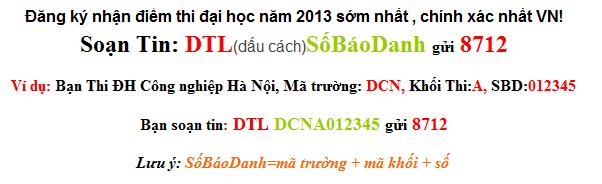 Dap an de thi dai hoc mon toan khoi A1 nam 2013