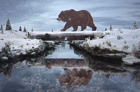 Cứ đến mùa đông, gấu ta lại ngủ đông và quên luôn việc đón Giáng sinh.