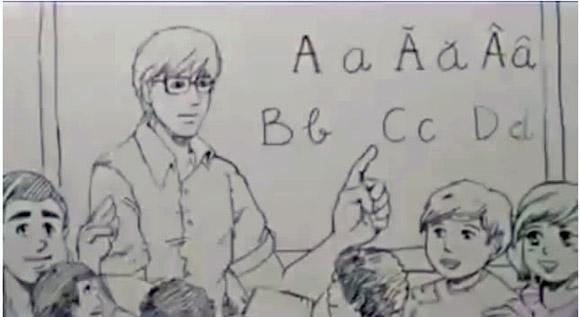 Lắng lòng khi xem clip giọt nước mắt hạnh phúc của thầy