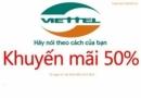 Viettel khuyến mãi tháng 11/2013 lần 2