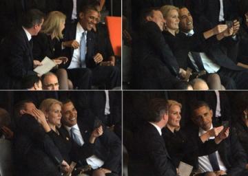 Tổng thống Obama chụp ảnh tự sướng trong tang lễ tổng thống Nam Phi Nelson Mandela