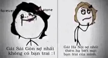 Thú vị với clip sự khác biệt giữa con gái Hà Nội và con gái Sài Gòn