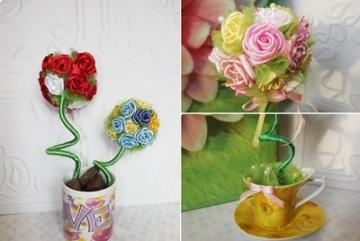 Cách làm hoa hồng bằng ruy băng cực đẹp và đơn giản