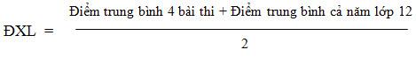 Cach tinh diem thi tot nghiep THPT va xep loai nam 2014