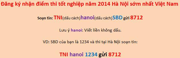 Đã có điểm thi tốt nghiệp THPT năm 2014 Hà Nội