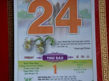 Năm 2014 có nhuận 2 tháng Chín như lịch đăng?