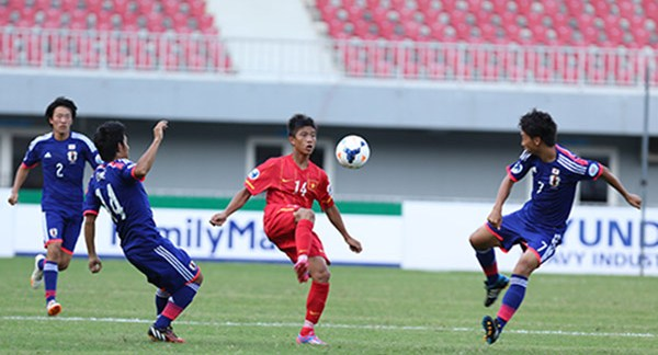 Ket qua tran U19 Viet Nam - U19 Nhat Ban