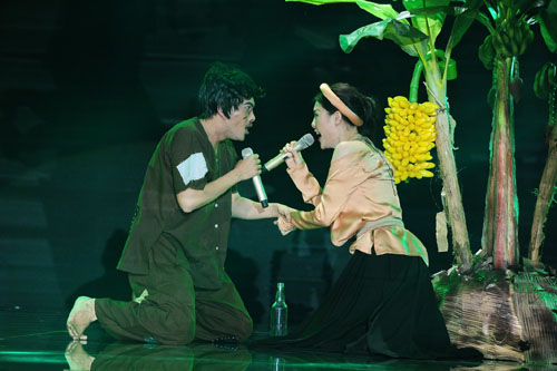 Liveshow 4 cap doi hoan hao: Cap doi Ha Duy - Hoang Yen dat diem tuyet doi