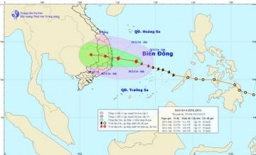 Tin bão khẩn cấp cơn bão số 4 giật cấp 11