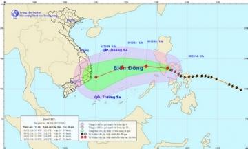 Diễn biến mới nhất cơn bão số 5 - bão Hagupit