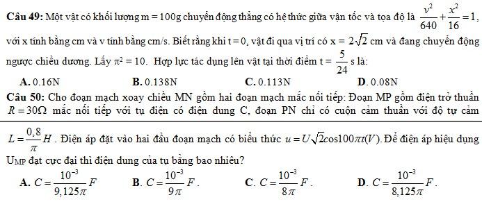 De thi thu THPT Quoc gia mon Ly THPT Cu Huy Can nam 2015