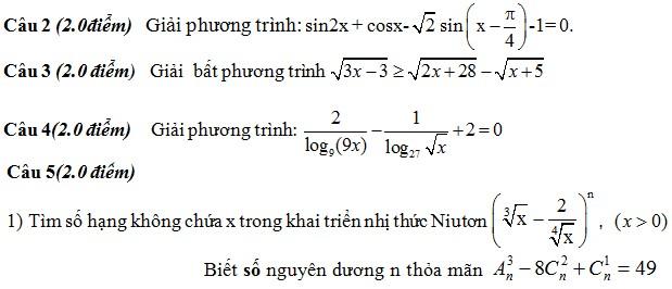 De thi thu THPT Quoc gia mon Toan 2015 THPT Nguyen Han