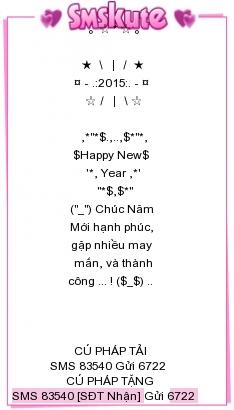 Sms kute chuc mung nam moi At Mui 2015