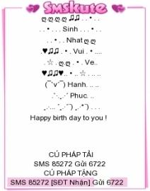 SMS kute chúc mừng sinh nhật ý nghĩa nhất