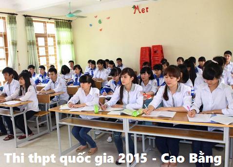 Cụm thi địa phương của tỉnh cao bằng thi thpt 2015