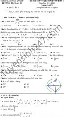 Đề thi thử vào lớp 10 môn Toán THCS An Đà 2015