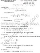 Đề thi thử vào lớp 10 môn Toán THPT chuyên Nguyễn Tất Thành 2015