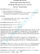 Đáp án đề thi thử THPTQG môn Toán THPT chuyên Thái Nguyên 2015