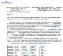 Đáp án đề thi thử THPTQG môn Anh 2015 THPT chuyên Thái Nguyên