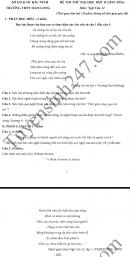 Đề thi thử THPT Quốc gia môn Văn năm 2016 - THPT Hàm Long
