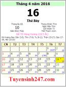 Giỗ tổ Hùng Vương năm 2016 vào ngày mấy?