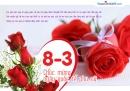 Thiệp 8/3 chúc mừng ngày Quốc tế phụ nữ đẹp nhất