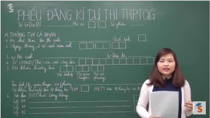 Video hướng dẫn chi tiết làm hồ sơ thi THPTQG 2016 (kèm mẫu làm sẵn)